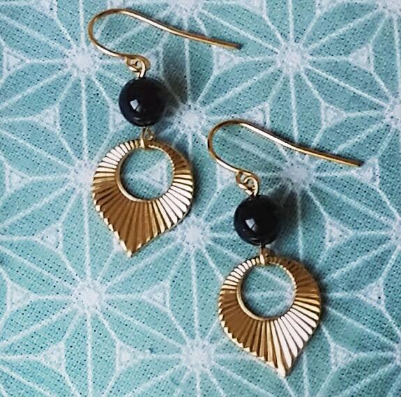 Boucles d'oreilles PloomBijoux elegantes petites dorées retro vintage chic