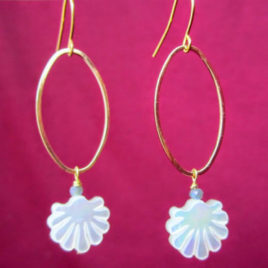 Boucles d'oreilles Shell Purity
