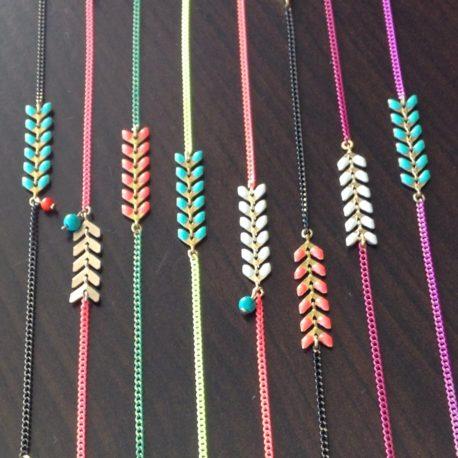 bracelets épis couleur fins ploom bijoux créateurs