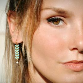 Boucles d'oreilles Epis dorées
