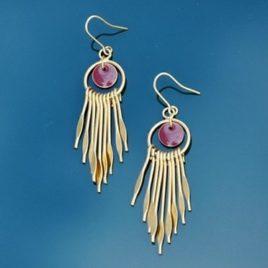 boucles d'oreilles d'inspiration des andes, apaches, de style Boho, pendantes et originales, ploom bijoux