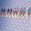 Ploom Bijoux createur boucles oreilles franges delicat coloré doré or fin