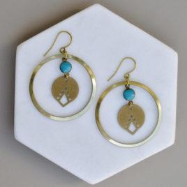 boucles d'oreilles Bamako originales femme ploom bijoux createur français