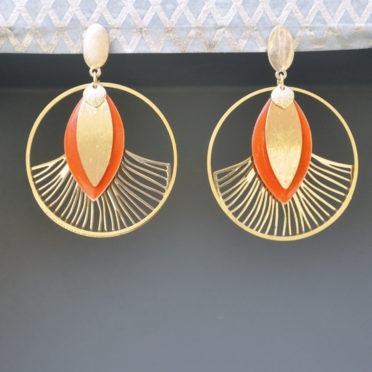 boucles d'oreilles Gingko Party originales femme ploom bijoux createur français