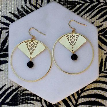 boucles d'oreilles Geisha originales femme ploom bijoux createur français