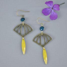 boucles d'oreilles Fan Retro originales femme ploom bijoux createur français
