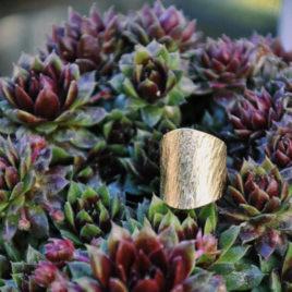 bague large or fin écorce resistante ploom bijoux créateur