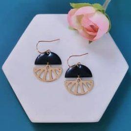 boucles d'oreilles Limonade originales femme ploom bijoux createur français or fin