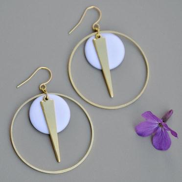 boucles d'oreilles Alaska originales femme ploom bijoux createur français
