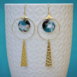 boucles d'oreilles Venus originales femme ploom bijoux createur français