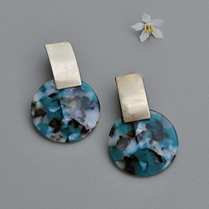 boucles d'oreilles elispe art déco originales grandes legeres pendantes ploom bijoux createur