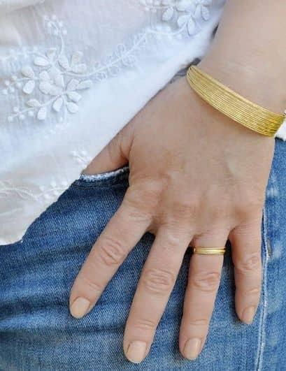 bracelet multi joncs fin doré strass ploom bijoux createur francais