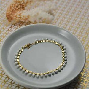 bracelet chic or fin blanc original résistant ploom bijoux créateur