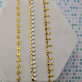 Bracelets Chaines au choix Dorées à l'or fin