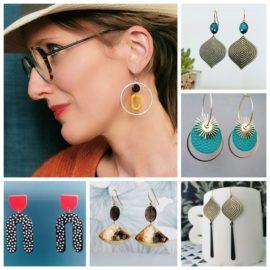 boucles d'oreilles ploom bijoux créateur originales pendantes belles ethniques vintage retro art deco artisanat francais paris